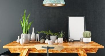 chalkboard wall dining room