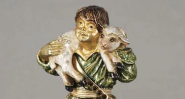 Jay Strongerwater shepard boy figurine.