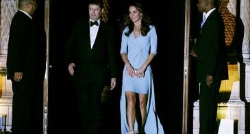 Kate Middleton Blue Jenny Packham Dress Attends Wildlife Photographer of The Year 2014 Awards Ceremony London