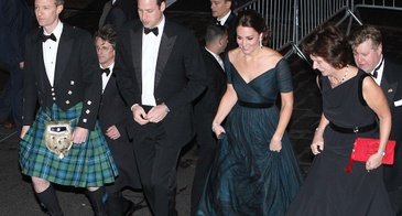 The Duke and Duchess of Cambridge Attend a St. Andrews Dinner in New York in Dec. 2014