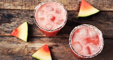 Watermelon Cocktail With Watermelon Garnishes
