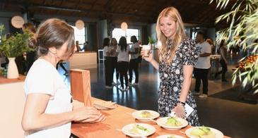 Gwyneth Paltrow Looks Food Display During In goop Health Summit