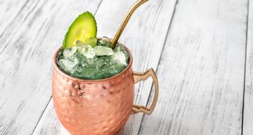 Cucumber Drink in a Copper Mug