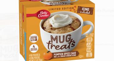 Betty Crocker Mug Treats Pumpkin Spice Cake Box