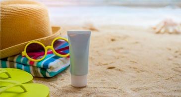 sunscreen on the sand