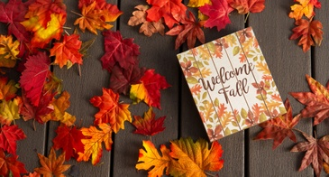 welcome fall sign