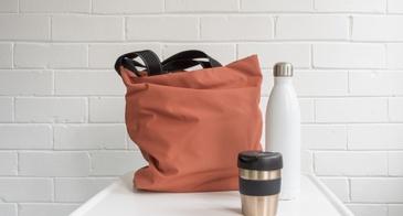 tote bag water bottle and coffee mug