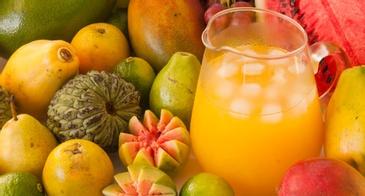 Orange Papaya Drink in a Jug