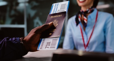 checking in with passport