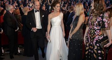 The Duke and Duchess of Cambridge (in Alexander McQueen) Attend the 2019 BAFTAs in London