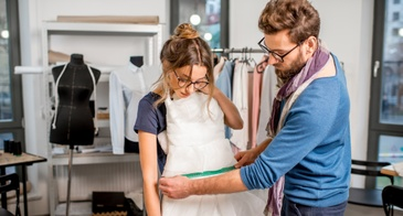 altering a dress
