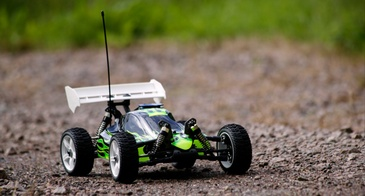 Remote controlled car.