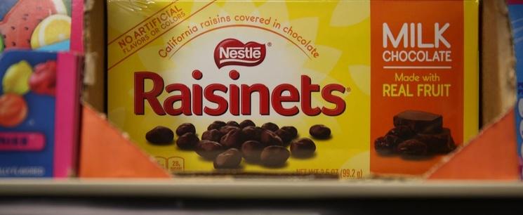 Box of Nestle Raisinets
