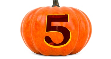 pumpkin with number 5