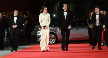 """The Duke and Duchess of Cambridge Attend  the Royal film performance of """"Mandela: Long Walk To Freedom"""" at The Odeon Leicester Square in London on December 5, 2013"""
