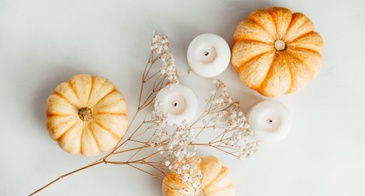 pumpkin with candles