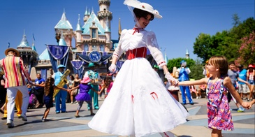 mary poppins in a disney park